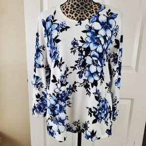 Alfred Dunner Floral Sweater